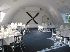 The venue at the Yorkshire Air Museum for our Reunion Dinner