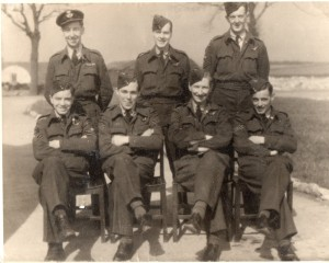 Pilot Alan May and crew